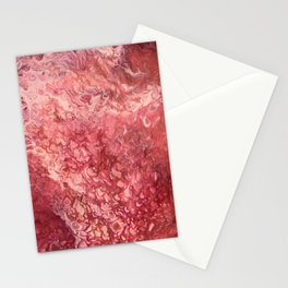 Take My Heart Away - Abstract Fluid Art in Red, Pink, Copper and Maroon Stationery Cards