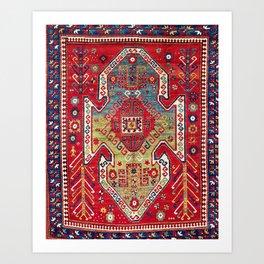 Sevan Kazak South West Caucasus Rug Art Print