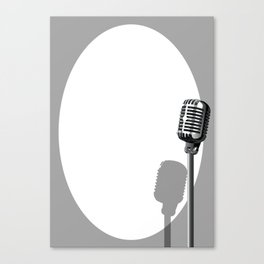 Musical Event Microphone Poster Canvas Print