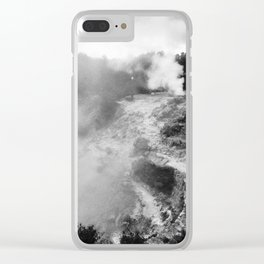 Volcano in Azores Clear iPhone Case