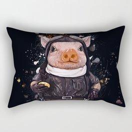 Steampunk Aviator Pig Rectangular Pillow