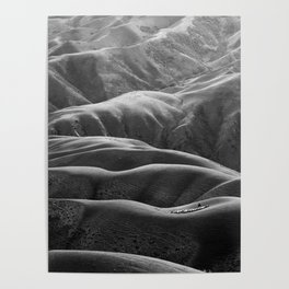 Endless Valleys (Black and White) Poster