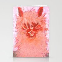 alpaca Stationery Cards featuring Alpaca!!! by J Han