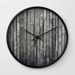 dark vertical wood Wall Clock