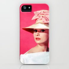 Audrey Hepburn Pink Version - for iphone iPhone (5, 5s) Slim Case