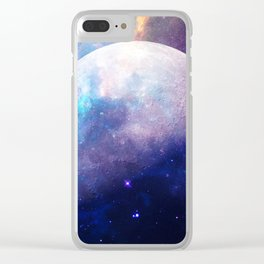 Galaxy Moon Space Clear iPhone Case