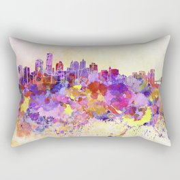 New York skyline in watercolor background Rectangular Pillow
