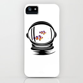 Astronaut Helmet Aquarium T Shirt Fish Tank Clownfish Gift iPhone Case