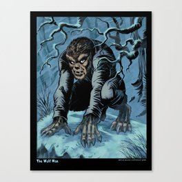 The Wolf Man in Winter Canvas Print