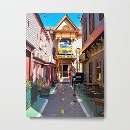 Route 66 in Downtown Bar Harbor, Maine Metal Print