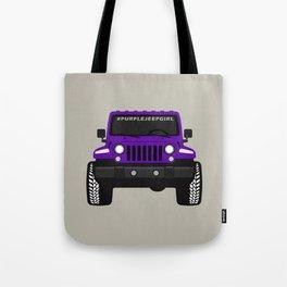 [JEEP] #Purple Jeep Girl Tote Bag