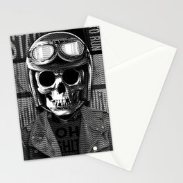 Skull graphic design Stationery Cards