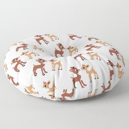 Classic Rudolph and Clarice Floor Pillow
