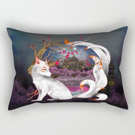 Into the Fox Hole Rectangular Pillow