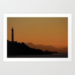 West Coast Sunset Art Print