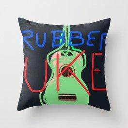 Uke Box 59 - Rubber Uke Throw Pillow