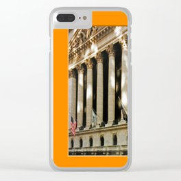 Americana - Wall Street - Manhatten - NYC Clear iPhone Case
