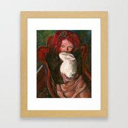 Red Maiya Framed Art Print