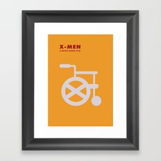 X-Men Minimalist Poster Framed Art Print