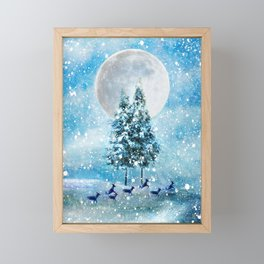 Winter Night 4 Framed Mini Art Print
