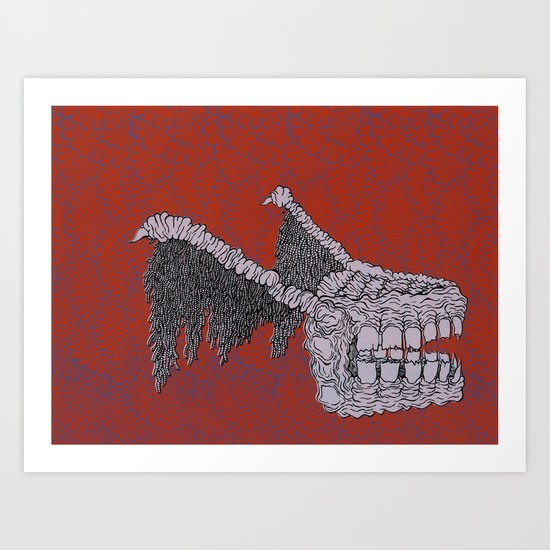 Tooth Monster Art Print