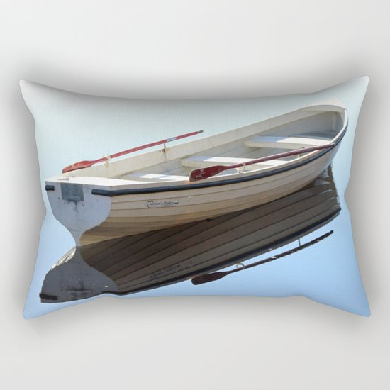 Messing about on the river Rectangular Pillow