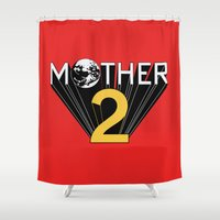 earthbound Shower Curtains featuring Mother 2 / Earthbound Promo by Studio Momo╰༼ ಠ益ಠ ༽