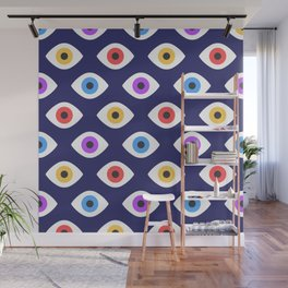Lucky Eyes Vintage Pattern Wall Mural