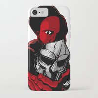 mf doom iPhone & iPod Cases featuring MF DOOM 2 by Derick Skuds Mckinley Jones