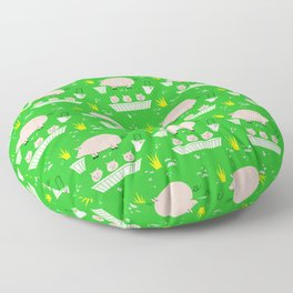 On The Farm Piggy Pattern Floor Pillow