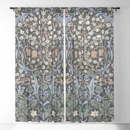 Blackthorn by John Henry Dearle for William Morris Sheer Curtain