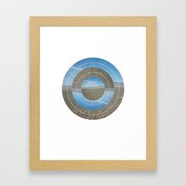 Desert Circle Framed Art Print
