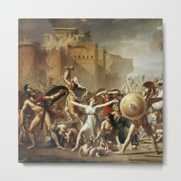 """Jacques-Louis David """"Sabine women stopped fighting the Romans with Sabines"""" Metal Print"""