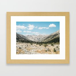 Rae Lakes - Kings Canyon II Framed Art Print