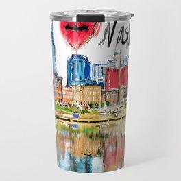 I love Nashville Travel Mug