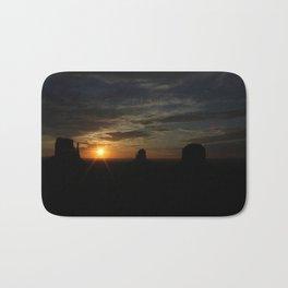 Sunrise over Monument Valley East & West Mitten Buttes Bath Mat