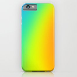 Bright Curved Rainbow Gradient iPhone Case