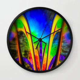 Fertile imagination 7 Rainbow Flower Wall Clock
