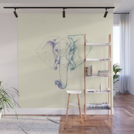 Sketched elephant Wall Mural
