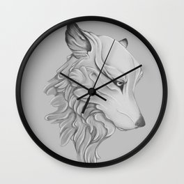 Wolf gaze Wall Clock