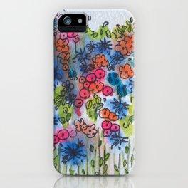 Champ de fleurs iPhone Case