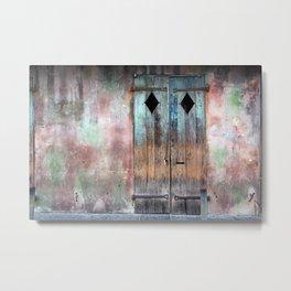 New Orleans Windows and Doors I Metal Print