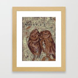 Honest Owl Couple Framed Art Print