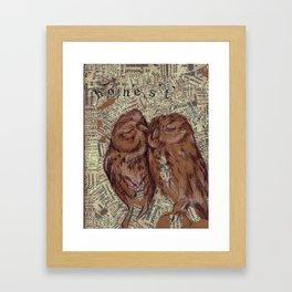Honest Owl Couple Framed Art Print
