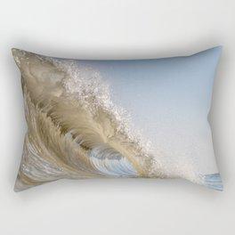 Golden Splash Rectangular Pillow