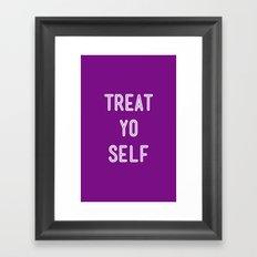 Treat Yo Self Purple - Parks and Recreation Framed Art Print