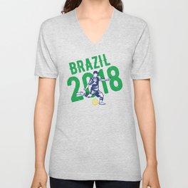Brazil 2018 world cup Unisex V-Neck