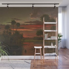 The Great Florida Sunset by Martin Johnson Heade Wall Mural