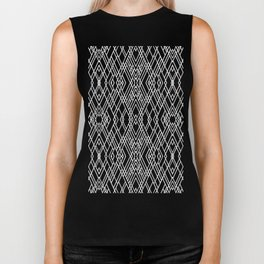 Art Deco Black and White Biker Tank