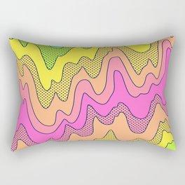 Ooo Ahh Melty Neon Rainbow Rectangular Pillow